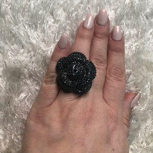 White House Black Market Jewelry - Black cluster stone ring